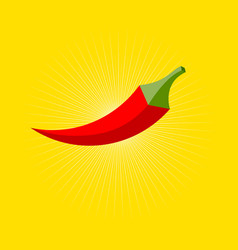 Logo chili pepper hexagon vector