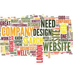 London web design text background word cloud vector