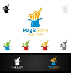 Magic marketing financial advisor logo design vector