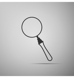 Magnifying glass on grey background Adobe vector