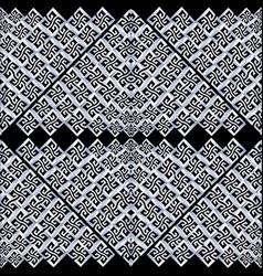 Meander greek key pattern black white abstract vector