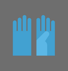 medical gloves icon surgeon uniform element vector image