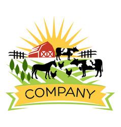modern farm logo vector image