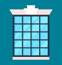Modern house window in flat design vector