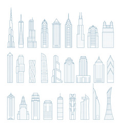 modern megalopolis skyscrapers and buildings vector image
