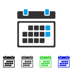 Month calendar flat icon vector