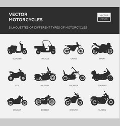 Motorcycle icon logo template vector