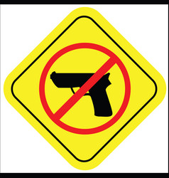 no gun sign vector image