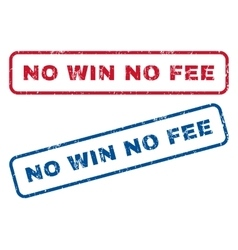 No win no fee rubber stamps vector