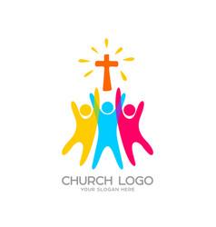People worship lord jesus christ vector