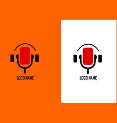 Podcast logo vector