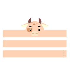 printable cow paper crown party headband die cut vector image
