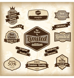 Retro design label set vector image