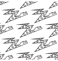 Seamless pattern of a zigzag cartoon boa snake vector