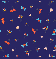seamless pattern with flying colourful balloons vector image
