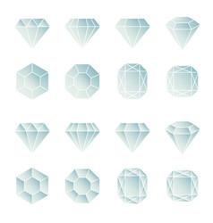 Set of diamond design elements vector
