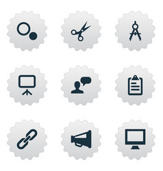 Set simple icons icons vector