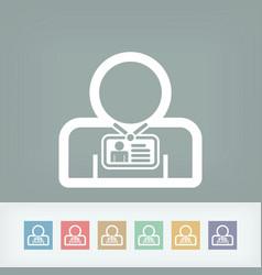 Staff card identity vector