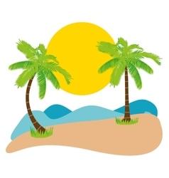 summer palm tree vector image