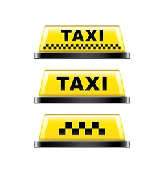 taxi sign isolated vector image