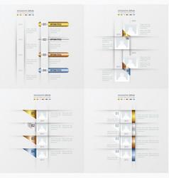 timeline design 4 item gold bronze silver blue vector image