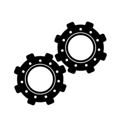 Two gear wheel engine teamwork vector