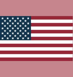 united states flag flat symbol vector image