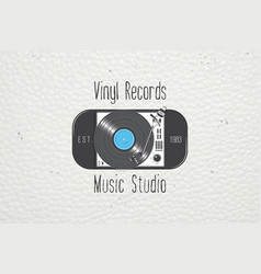 vinyl record music in the studio detailed vector image