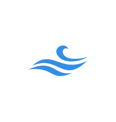wave water sea logo icon vector image
