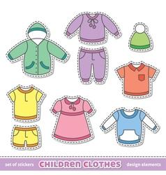 children clothes vector image