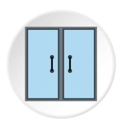 Double door icon flat style vector image vector image