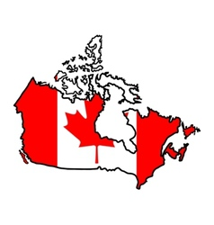 Map in colors of Canada vector image