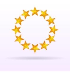 Stars background circle vector image