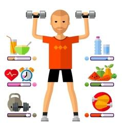 Fitness gym logo design template sport vector