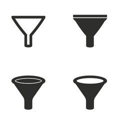 funnel icon set vector image vector image