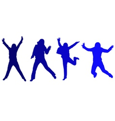 Jumping silhouette vector image vector image