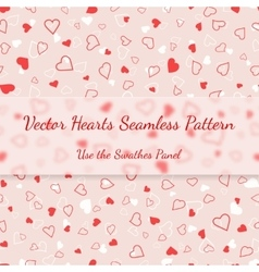 Red and white hearts seamless pattern valentines vector image vector image