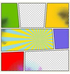 Retro comic book background vector