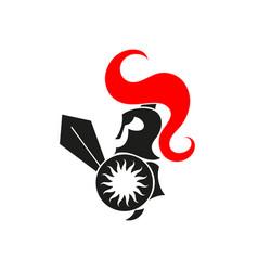 spartan warrior logo vector image