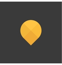Gps Abstraction yellow sign gps into flat vector image vector image