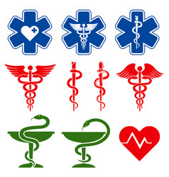 international medical pharmacy and emergency care vector image vector image