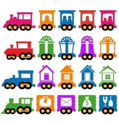 set train - delivery services icons vector image vector image