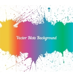 spectrum ink splashes over white vector image vector image