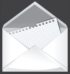 white envelope vector image vector image
