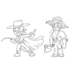 Cartoon masked hero strong farmer character set vector