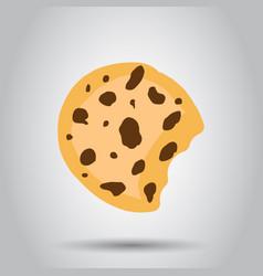 Cookie flat icon chip biscuit dessert food vector