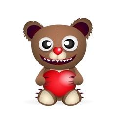 Cute brown teddy bear vector image vector image