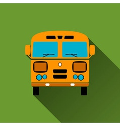 Retro Bus Icon Long Shadows vector image