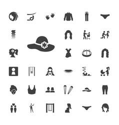 33 girl icons vector