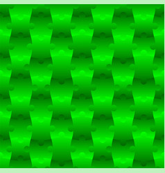 3d jigsaw tile seamless pattern green 001 vector image